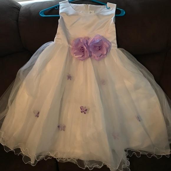 Dresses purple and white flower girl dress poshmark purple and white flower girl dress mightylinksfo